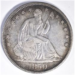 1850-O SEATED HALF DOLLAR, CH BU