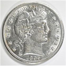 1895-O BARBER HALF DOLLAR AU/BU