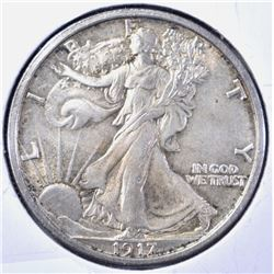 1917-S REVERSE WALKING LIBERTY HALF DOLLAR, CH BU