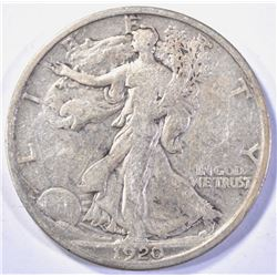 1920-D WALKING LIBERTY HALF DOLLAR  XF