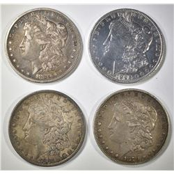 4 MORGAN DOLLARS SOME BETTER DATES