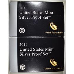 2-2011 U.S. SILVER PROOF SETS IN ORIG PACKAGING