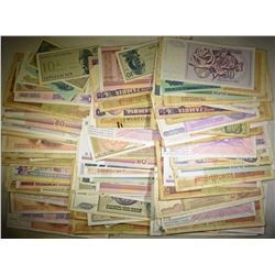 OVER 200 RANDOMLY SELECTED FOREIGN CURRENCY Pcs