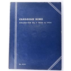 (32) CANADIAN SILVER DIMES 1888-1936