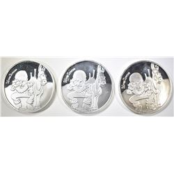 3-1 Oz .999 SILVER SILVERTOWNE PROSPECTOR ROUNDS