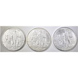 """3-ONE OUNCE .999 SILVER """"PROSPECTOR"""" ROUNDS"""