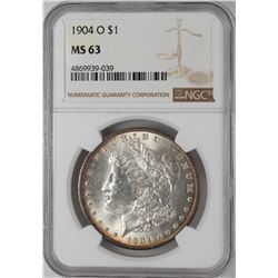 1904-O $1 Morgan Silver Dollar Coin NGC MS63