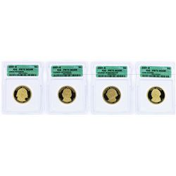 Lot of (4) 2007-S $1 Presidential Dollar Coins ICG PR70DCAM