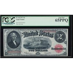 1917 $2 Legal Tender Note PCGS 65PPQ