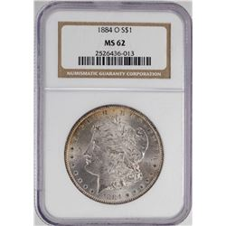 1884-O $1 Morgan Silver Dollar Coin NGC MS62