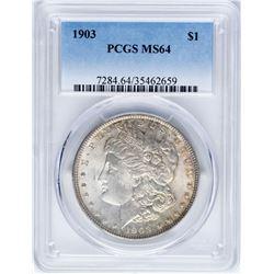 1903 $1 Morgan Silver Dollar Coin PCGS MS64