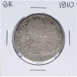 1810-HI Mexico 8 Reales Ferdin VII Silver Coin
