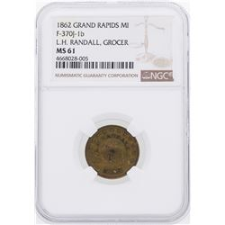 1862 Grand Rapids, MI Civil War Token NGC MS61