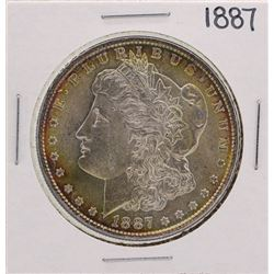 1887 $1 Morgan Silver Dollar Coin Amazing Toning
