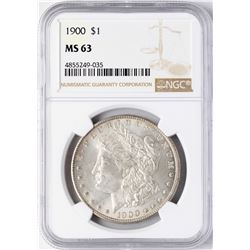1900 $1 Morgan Silver Dollar Coin NGC MS63
