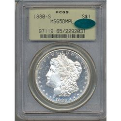 1880-S $1 Morgan Silver Dollar Coin PCGS MS65DMPL CAC
