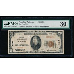 1929 $20 Nogales National Bank Note PMG 30