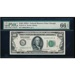 1928A $100 Chicago Federal Reserve Note PMG 66EPQ