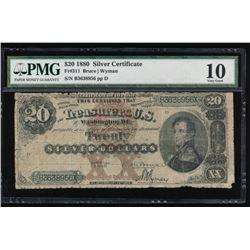 1880 $20 Silver Certificate PMG 10