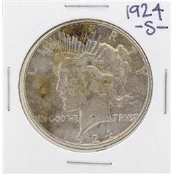 1924-S $1 Peace Silver Dollar Coin