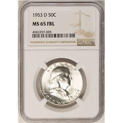 1953-D Franklin Half Dollar Coin NGC MS65FBL