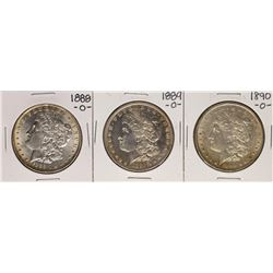 Lot of 1888-O to 1890-O $1 Morgan Silver Dollar Coins