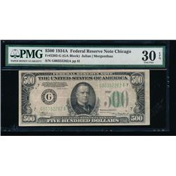 1934A $500 Chicago Federal Reserve Note PMG 30EPQ