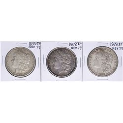 Lot of (3) 1878 7TF Reverse of 79' $1 Morgan Silver Dollar Coins