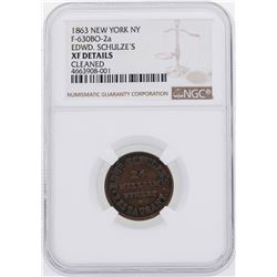 1863 New York, NY Civil War Token NGC XF Details