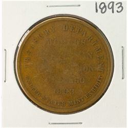 1893 Worlds Columbian Exposition Medal So Called Dollar