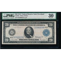 1914 $20 Cleveland Federal Reserve Note PMG 30