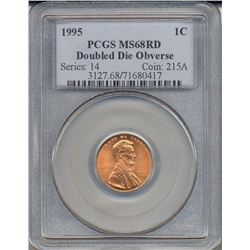 1995 Double Die Lincoln Cent PCGS MS68RD