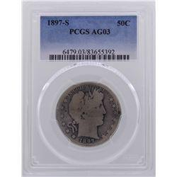 1897-S Barber Half Dollar Coin PCGS AG03