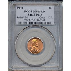 1960 Lincoln Cent PCGS MS66RD