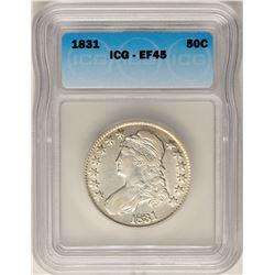 1831 Capped Bust Half Dollar Coin ICG XF45