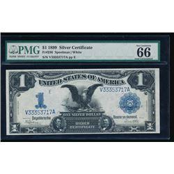 1899 $1 Black Eagle Silver Certificate PMG 66