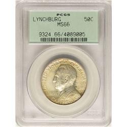 1936 Lynchburg Sesquicentennial Commemorative Half Dollar Coin PCGS MS66 Old Holder