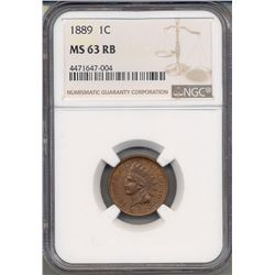 1889 Indian Head Cent NGC MS63RB