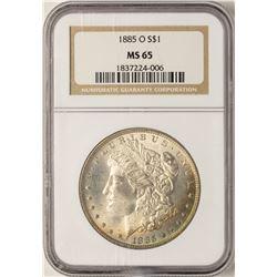 1885-O $1 Morgan Silver Dollar Coin NGC MS65