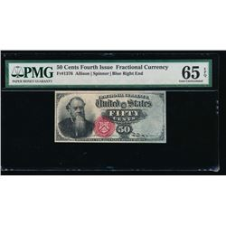50 Cent Fourth Issue Fractional Note PMG 65EPQ