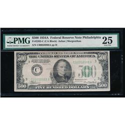1934A $500 Philadelphia Federal Reserve Note PMG 25