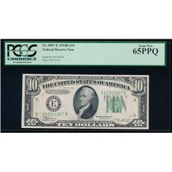 1934B $10 Richmond Federal Reserve Note PCGS 65PPQ