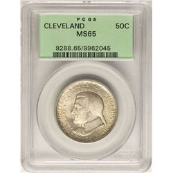 1936 Cleveland Commemorative Half Dollar Coin PCGS MS65 Old Green Holder