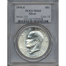 1976-S $1 Eisenhower Silver Dollar PCGS MS68