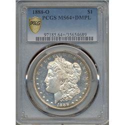 1888-O $1 Morgan Silver Dollar Coin PCGS MS64+ DMPL