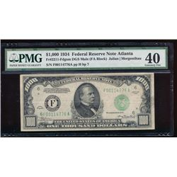 1934 $1000 Atlanta Federal Reserve Note PMG 40