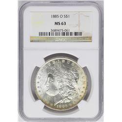 1885-O $1 Morgan Silver Dollar Coin NGC MS63 Nice Toning