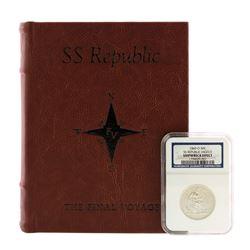 1860-O High O SS Republic Seated Liberty Half Dollar Coin NGC Shipwreck Effect w/Book