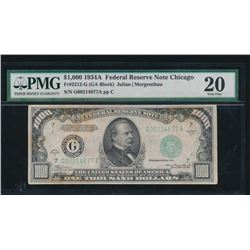 1934A $1000 Chicago Federal Reserve Note PMG 20