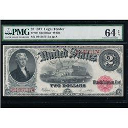 1917 $1 Legal Tender Note PMG 64EPQ